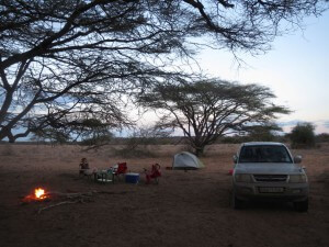Our beautiful camp site in Shaba came complete with a lion roaring very close by for several hours - glad we had those two armed guards.