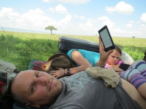 An afternoon nap in the middle of the day on the plains of the Maasai Mara.