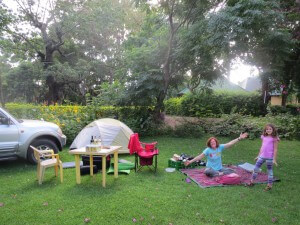 Out camp ground in Arusha was lovely.