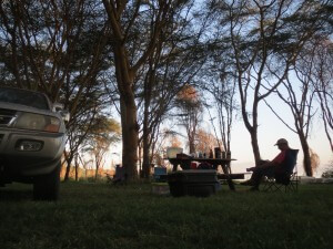 Camp Carnelley's at Lake Naivasha in the early AM.