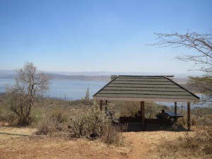 View point over Lake Naivasha.