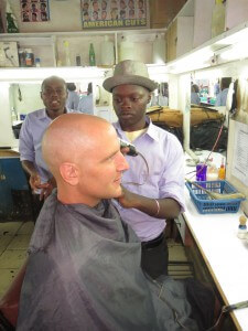 Haircut in Eldoret.