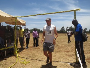 Finishing the Rift Valley marathon.  Not sure what my exact time was, but it was about 4:01.