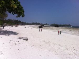 The beach at Watamu.