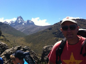 Hiking Mount Kenya with 40 9th graders- a great trip.