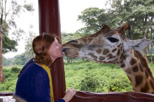 The giraffe center in Nairobi.