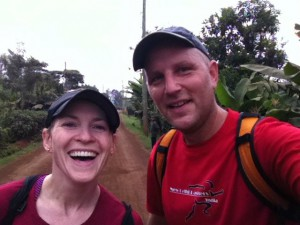 Liz and I did a 20km run in the country side with my running group.