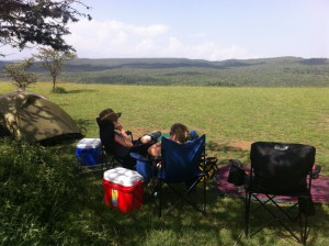 Our new favorite place to camp is Mt Suswa, right on the rim of a massive volcano in the middle of a Masai Conservancy.