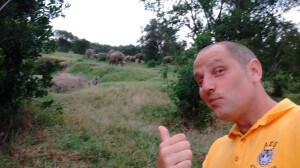 Elephants very close to our campsite in Ol Pajeta!