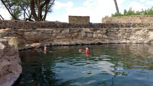 Swimming in Buffalo Springs.