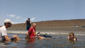 Swimming in Turkana.