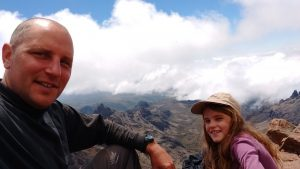 On the summit of Mt Kenya!