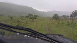 It was a wet drive down from Chyulu Hills.
