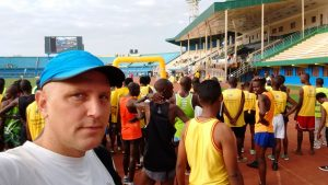 Start of the Kigali Marathon.