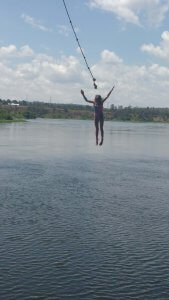Zoë loved the two rope swings we found in Uganda.  She was much braver than me at swinging from high perches!