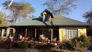 Staying with friends at Ole Tika (sp?), cottages on Lake Naivasha, a nice weekend get away.