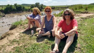 Pausing on the side of the Mara river.