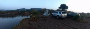 Our campsite on the Mara river.