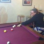 Playing pool in Mbeya