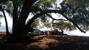 Camping on Lake Tanganyika - Ndole Bay