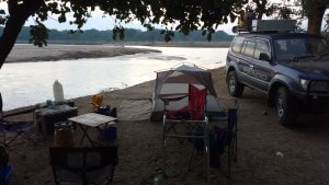 Our campsite in North Luangwa was right on the river, some of the world's highest concentration of hippos - noisy1