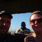 Boat safari from Moremi in the Okavango Delta.