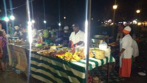 The night market- 'Zanzibar Pizza' and lots of calamari!