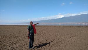 Lake Natron!  We were slightly over the border into Tanzania.