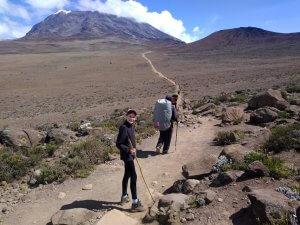 Alpine desert - as you approach Kibo Hut.